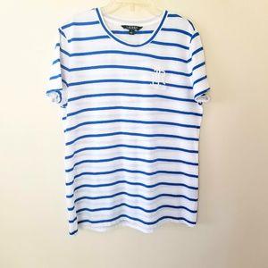 Lauren Ralph Lauren - White and Blue T-Shirt